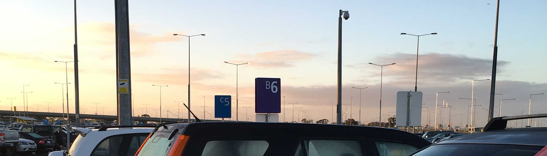 Photo of where we parked at Melbourne Airport Car Park