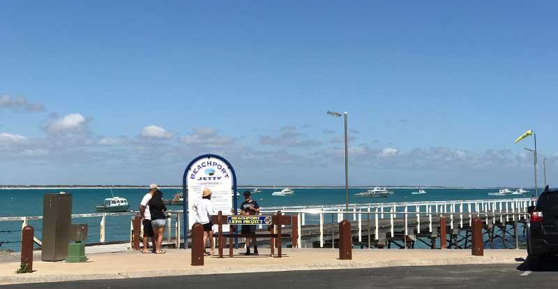 Beachport Jetty beach jetty