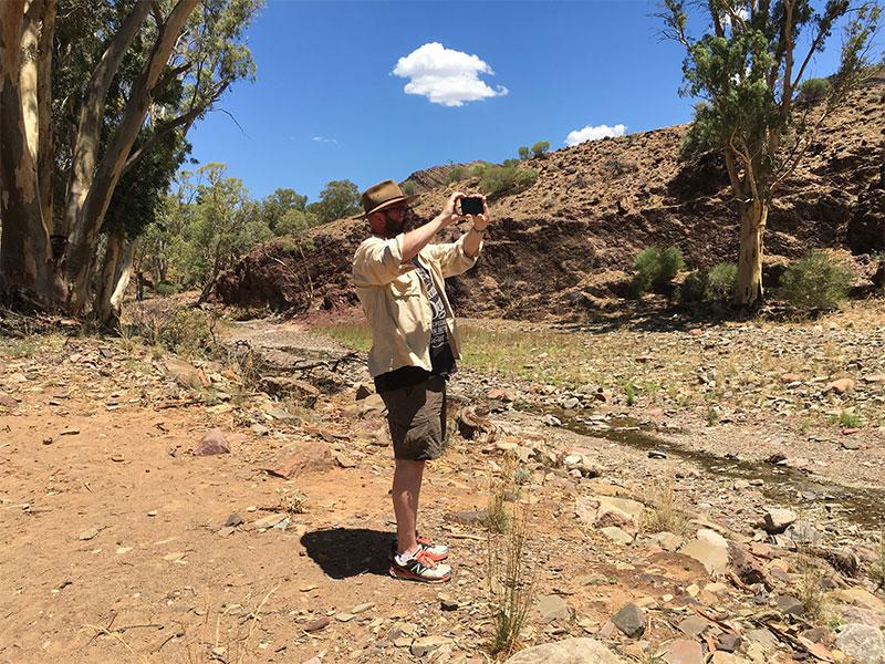 David taking photos Heysen trail