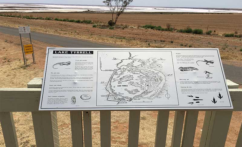 Lake Tyrrell Information Board