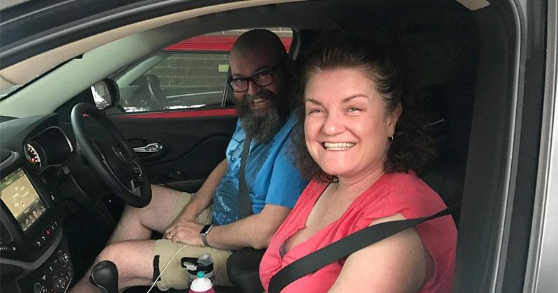 Megan and David in Melbourne