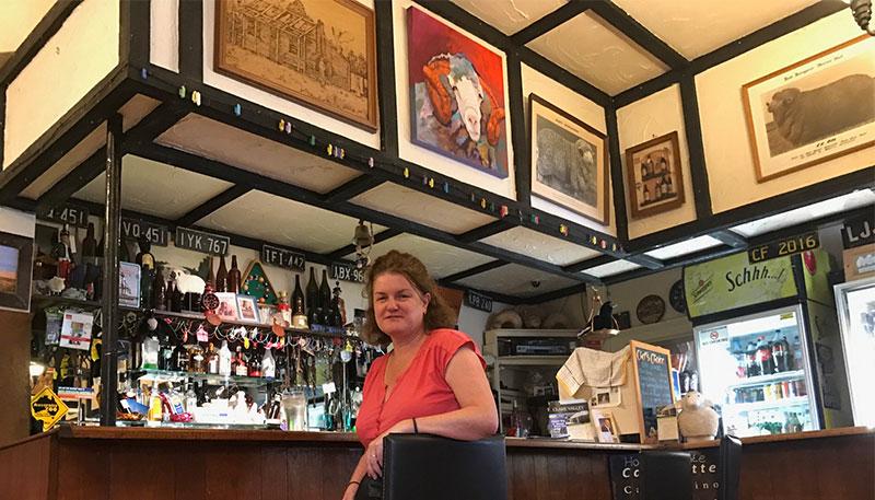 Megan at the Mount Bryan Bar