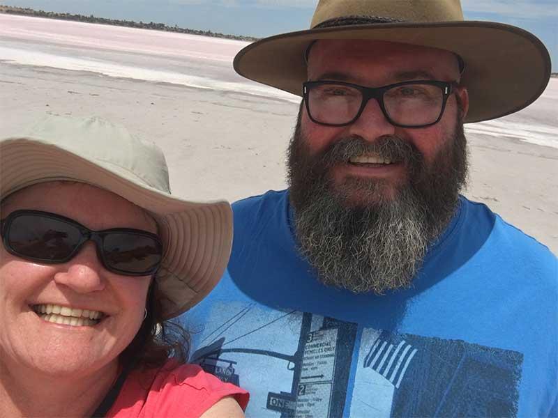 Selfie at the Pink Lakes