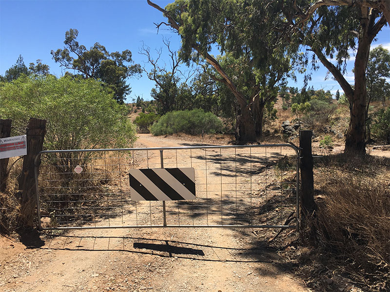 Turn right at this gate -Sacred Canyon