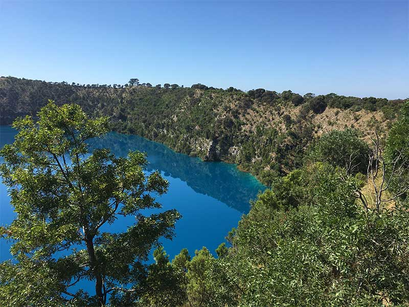 Blue Lake view Mount Gambier