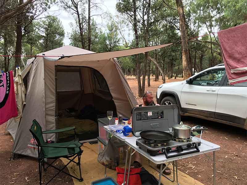 Coleman tent Wilpena Pound