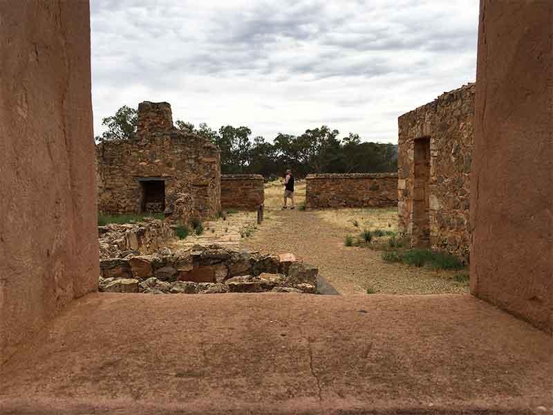 David looking at ruins