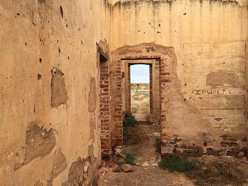 Wilson ruins interior rooms