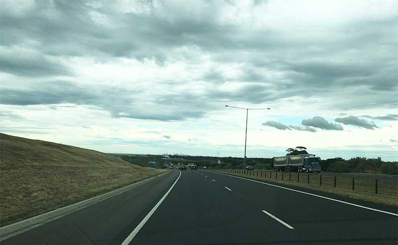 Cloudy sky road