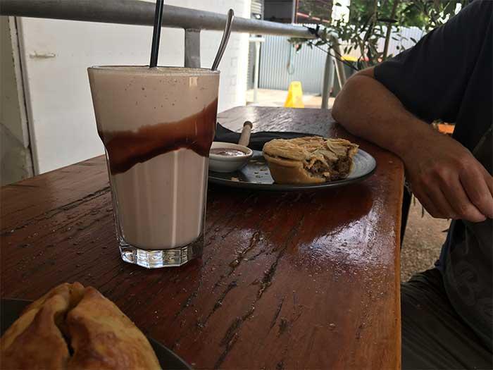 Chocolate Milkshake, Pie and Pastie at Whycheeproof