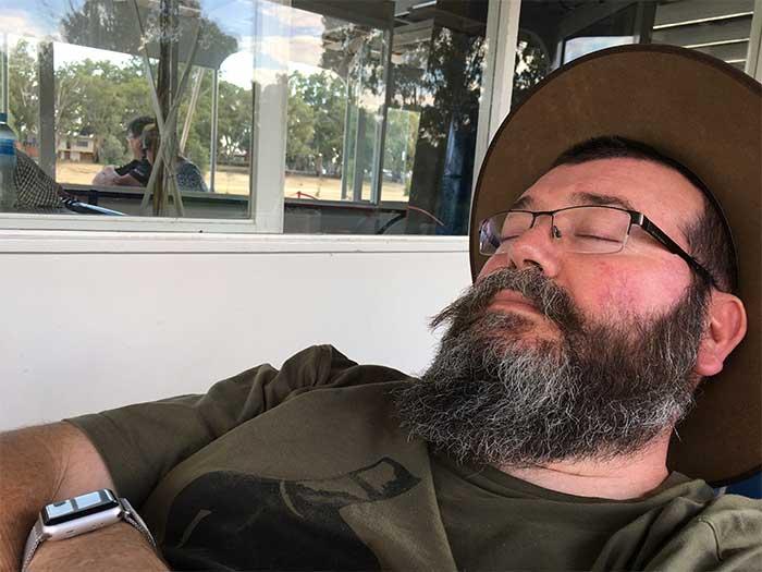 Dave sleeping like a baby.