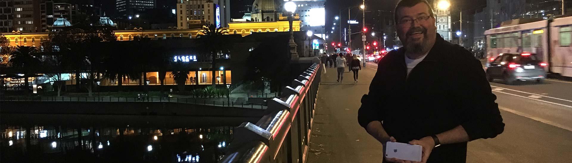 David Melbourne city at night