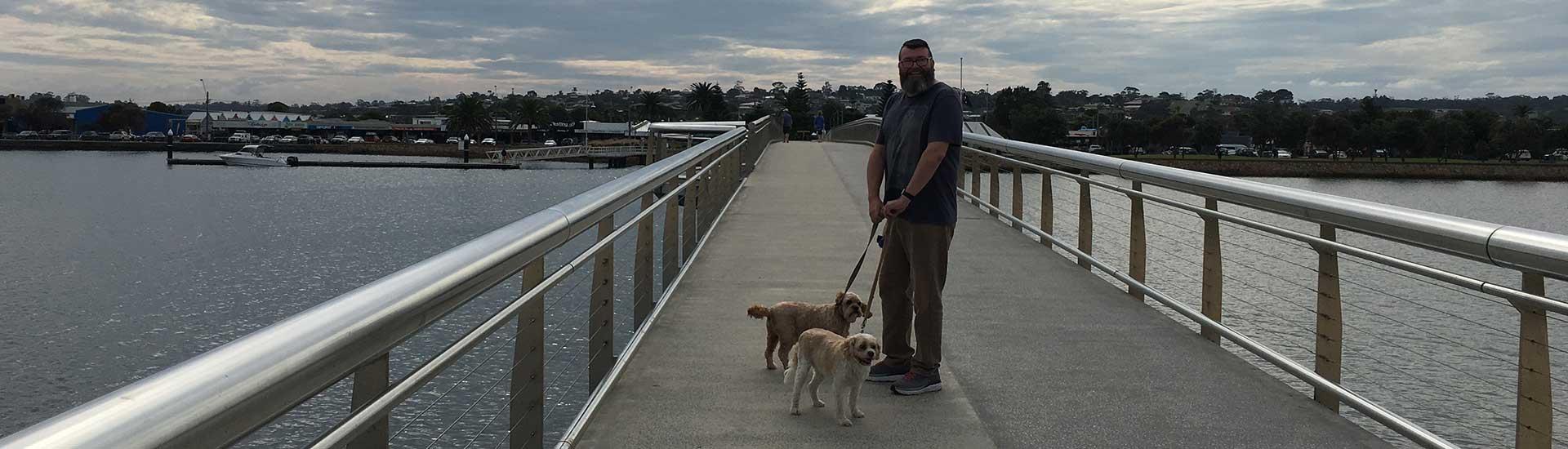 David Taffee and Fudge Lakes Entrance Bridge